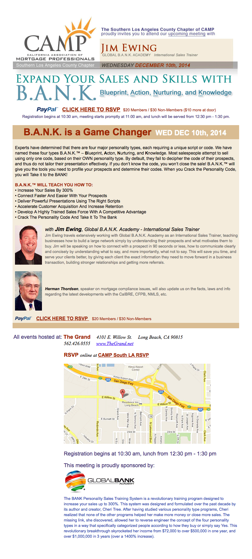, CAMP Luncheon: Expand Your Sales and Skills with B.A.N.K., Standard Mortgage Financial Services, Inc.